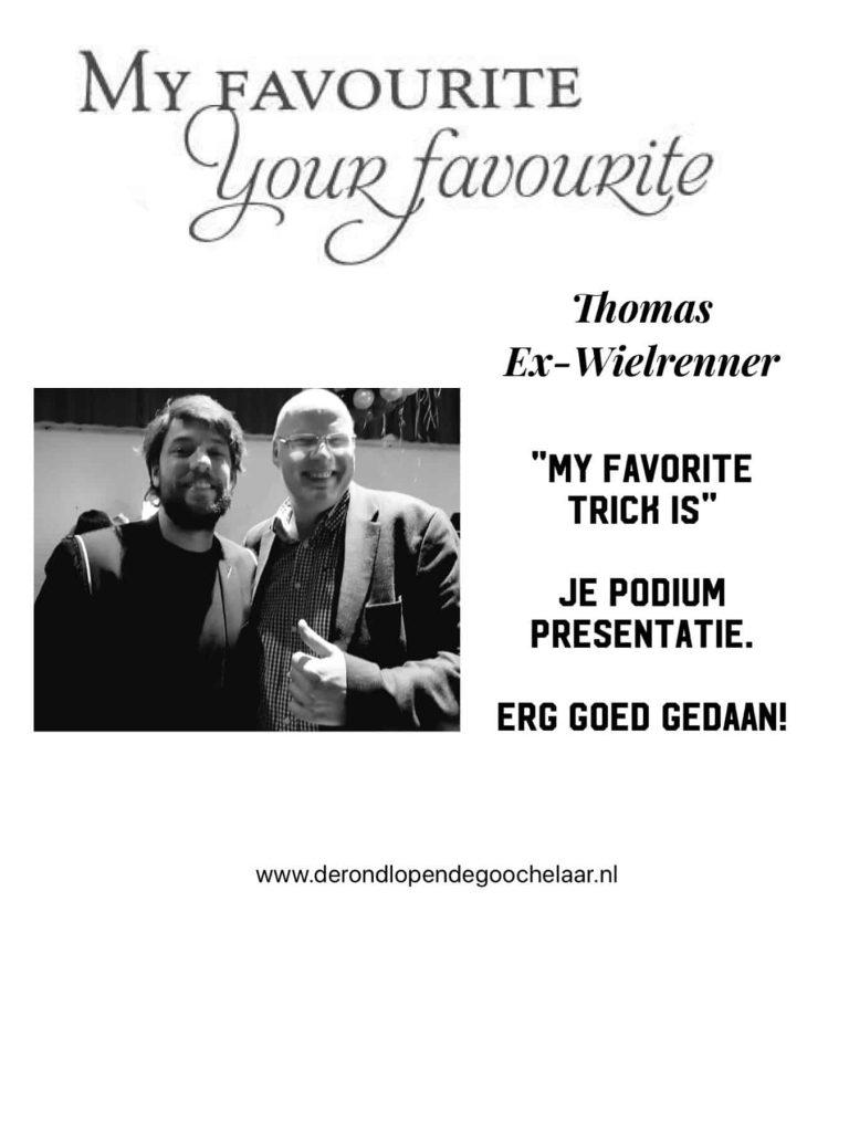 Goochelaar vip event met Thomas Dekker